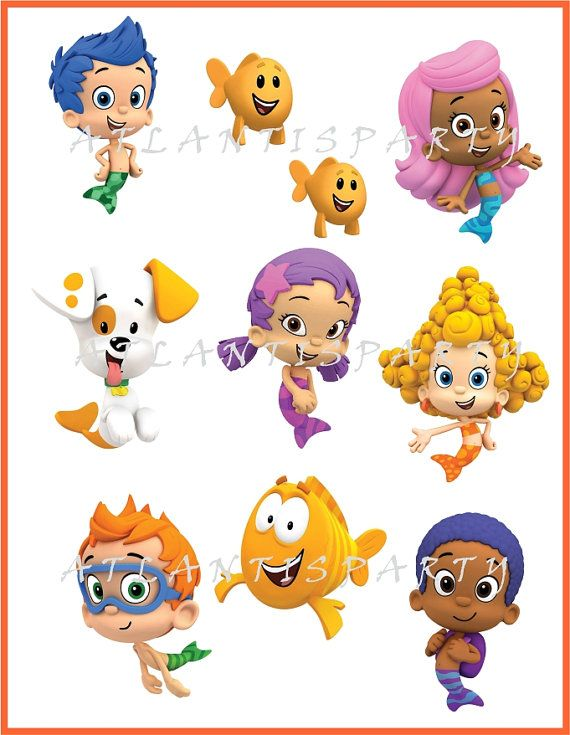 SALE INSTANT DOWNLOAD Bubble Guppies 9 by ATLANTISPARTY on Etsy ...