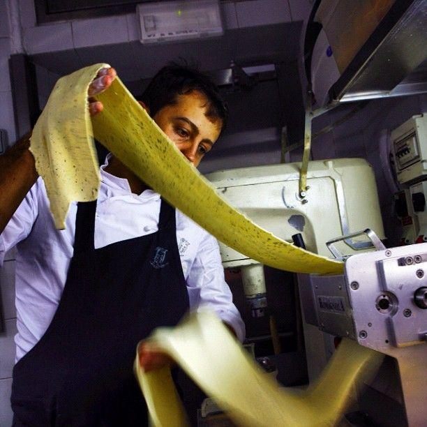 Making Pasta at Aimo's in Milan