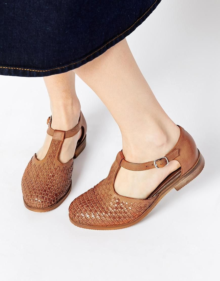 Buy Women Shoes / Asos Juxtapose Leather Flat Shoes