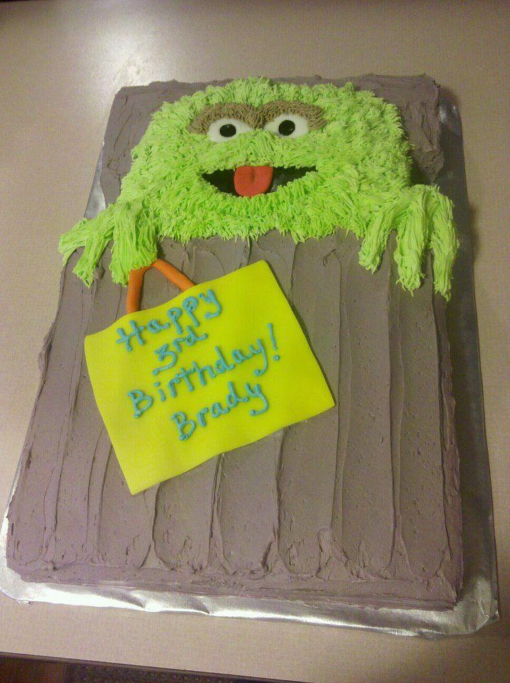 Oscar The Grouch Vegan Birthday Cake