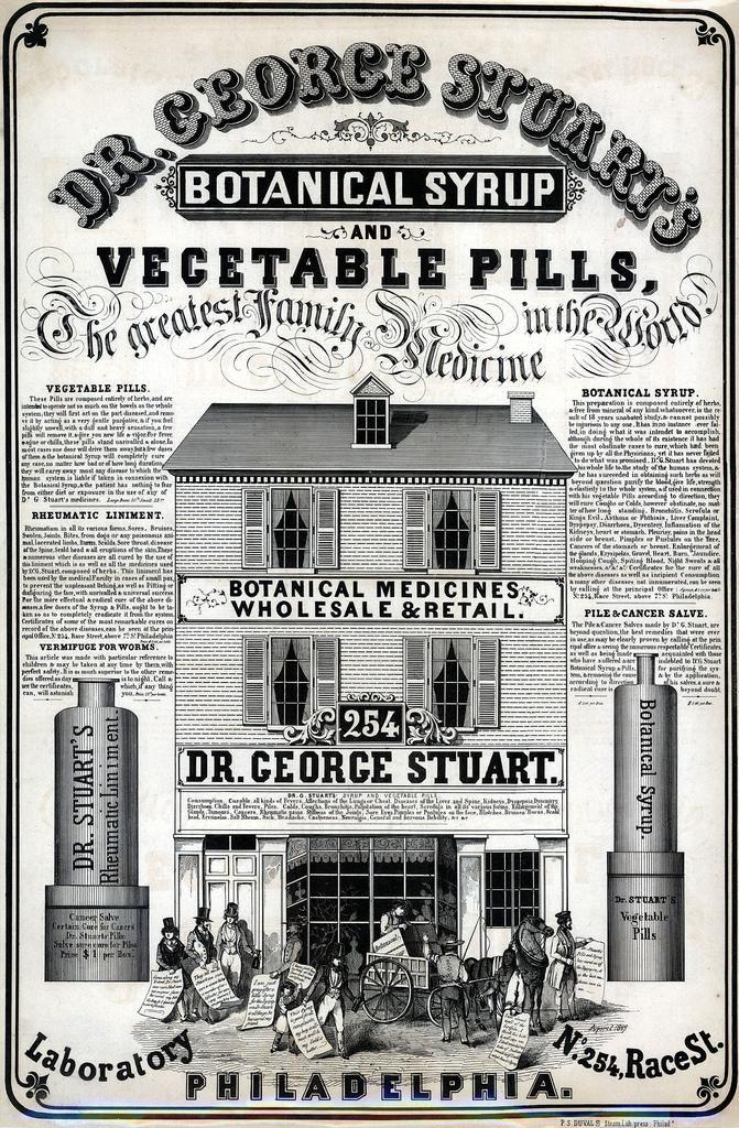 Dr George Stuart's Botanical Medicines, 1849. (Library Co of Philadelphia.) #history #medical