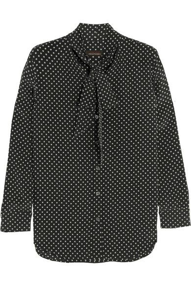 Kate Moss for Equipment | Slim Signature printed washed-silk shirt…