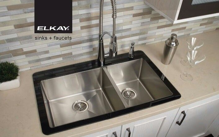 Crosstown Glass Rim Sink by Elkay | Kitchen Sinks | Pinterest