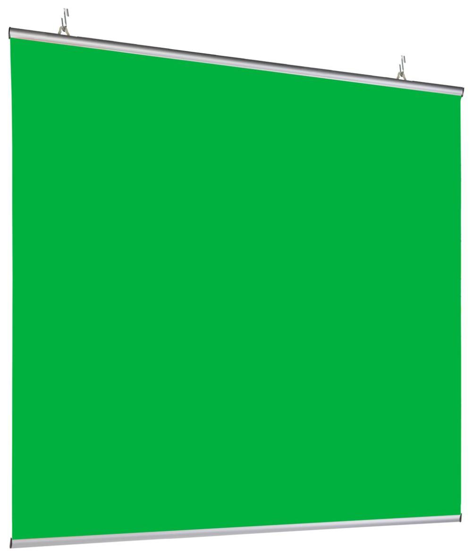 72 X 72 Green Screen Banner W Aluminum Snap Rails Ceiling Hanging Chroma Green In 2021 Green Screen Backdrop Chroma Key Greenscreen