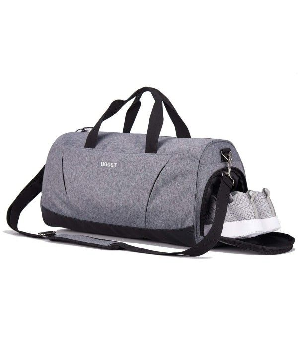 a785050d12f Sports Gym Bag with Shoes Compartment for Men and Women - Grey  ...