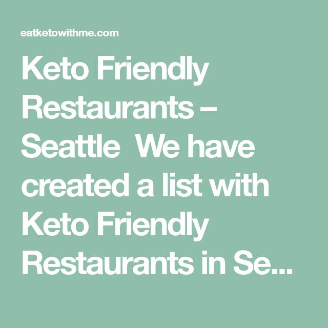 keto diet restaurants seattle