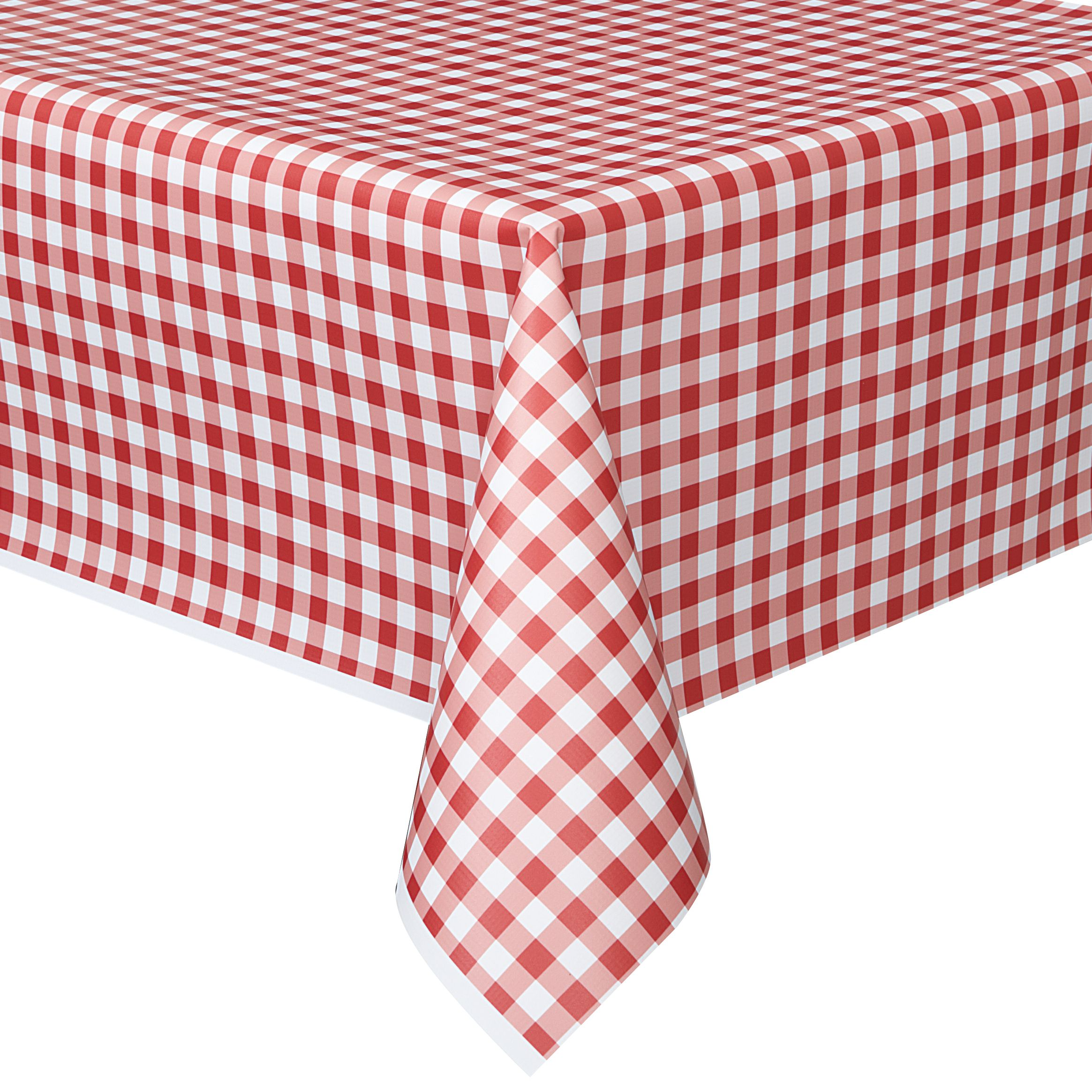 Plastic Red Gingham Table Cover 108 X 54 In 2020 Plastic Table Covers Gingham Party Bbq Party Decorations