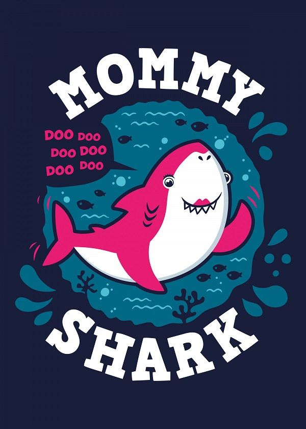 Baby Shark Family Displate Posters