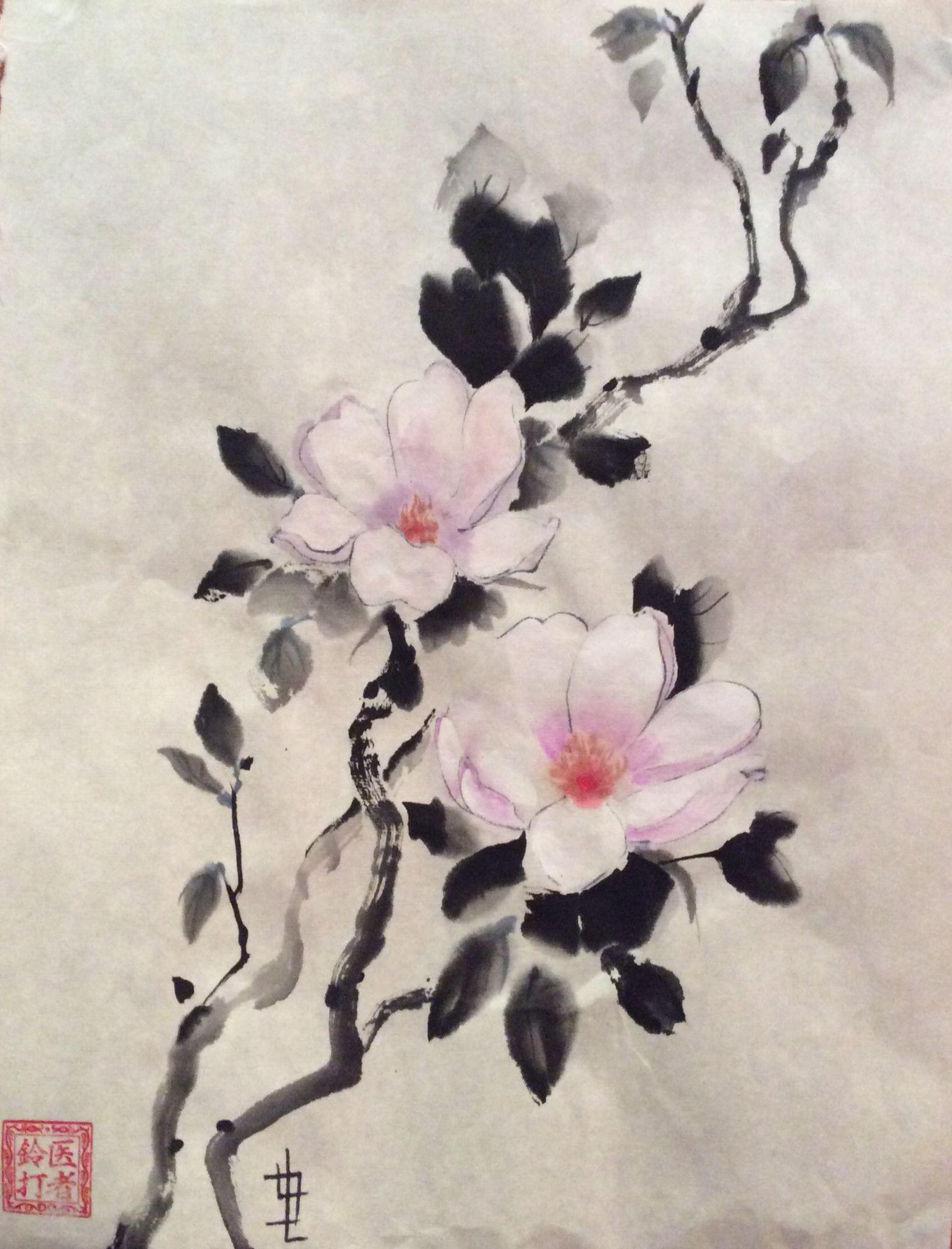 P1 2 From Man Luen Choon Magnolias Chinesepainting Asian Paints Chinese Flowers Chinese Painting