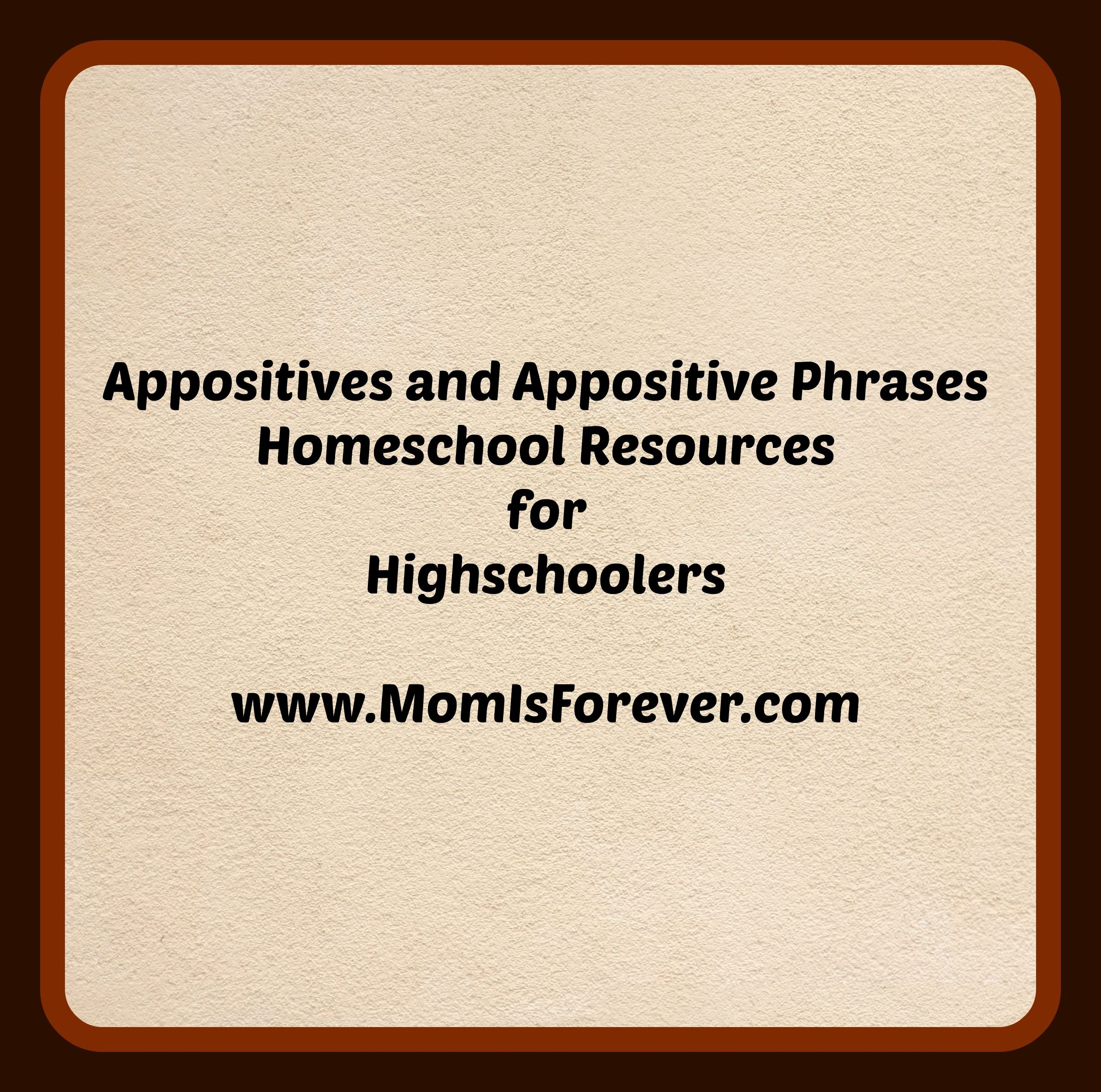 Appositives And Appositive Phrases