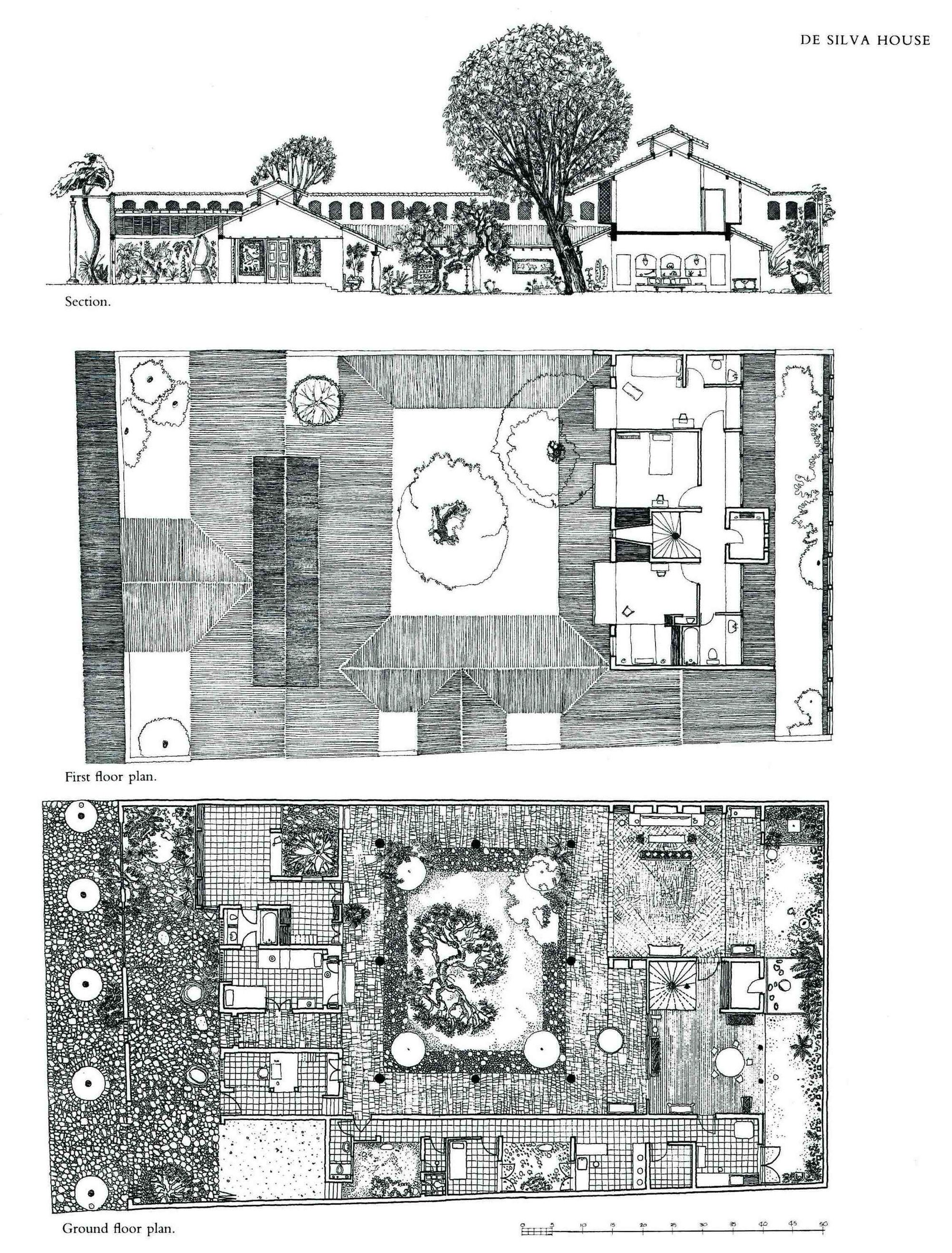 Gallery Of Remembering Bawa 2 Architecture Drawing Architecture Architecture Model