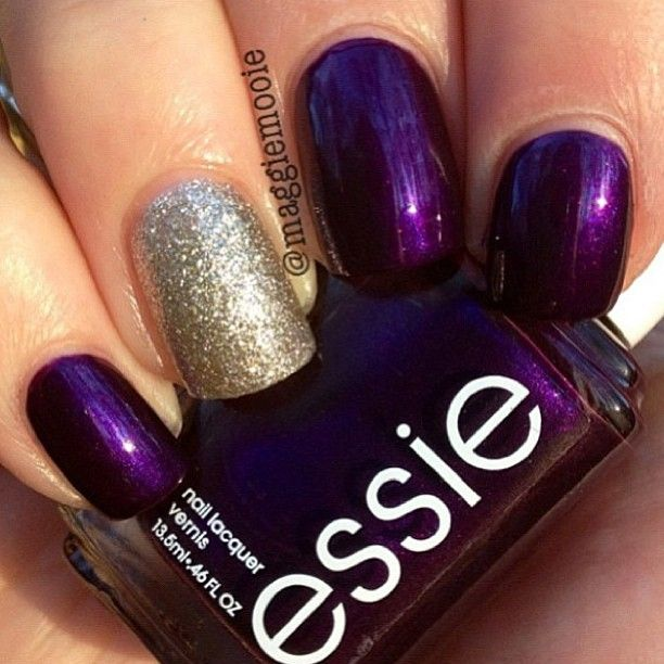 this is awesome...love essie polish and the gold look with the plum ...