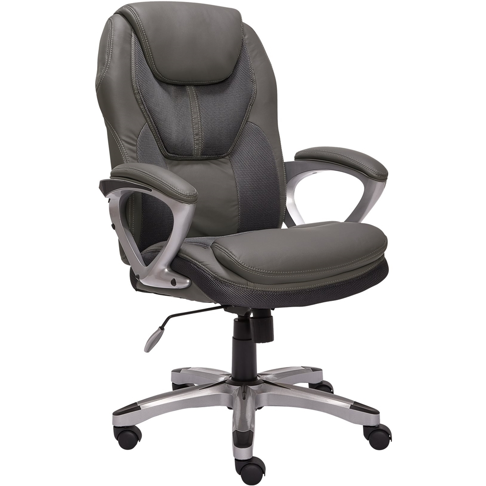Works Mesh & Faux Leather Executive Chair