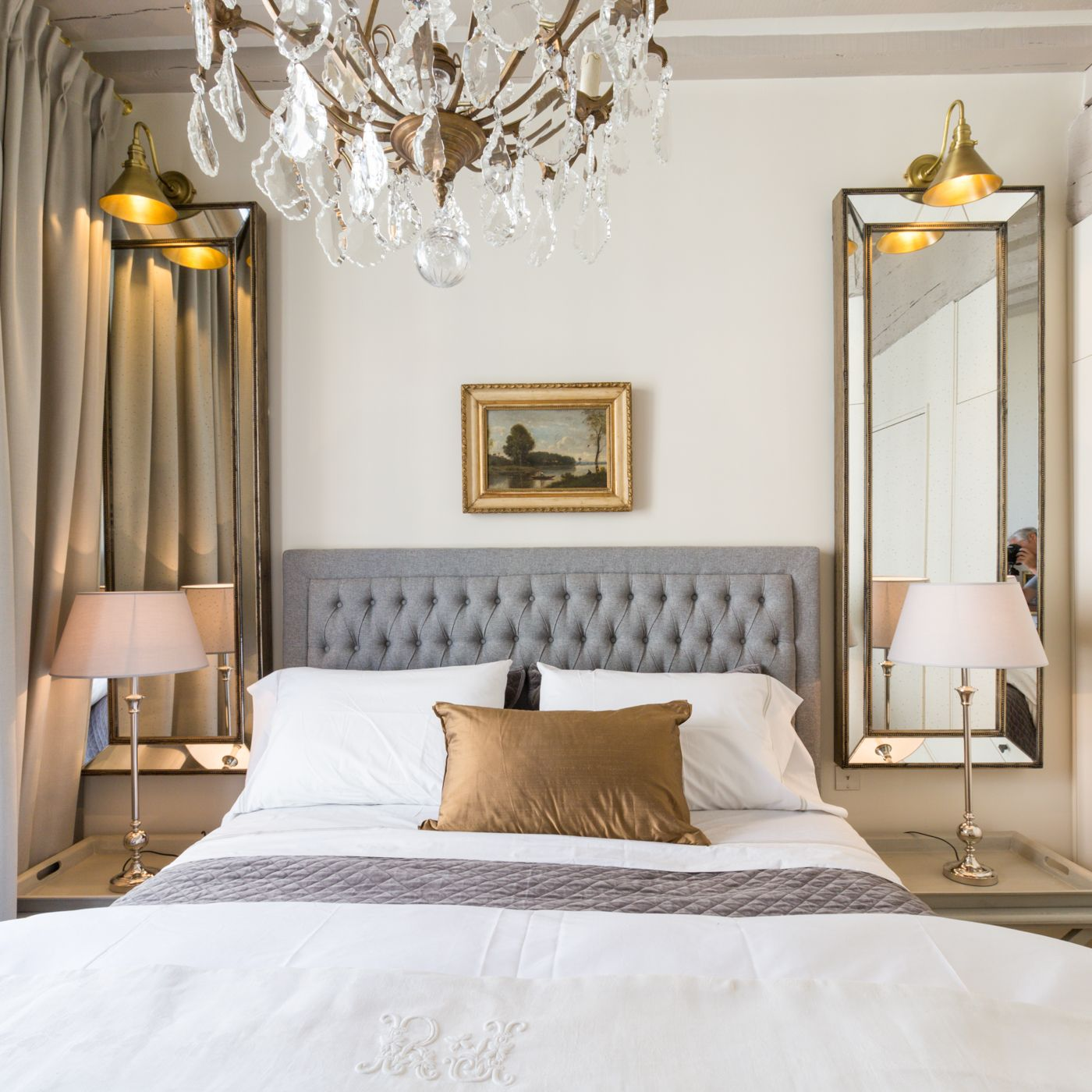 Parisian Bedroom. Parisian bedroom Symmetry in the master of a apartment  two