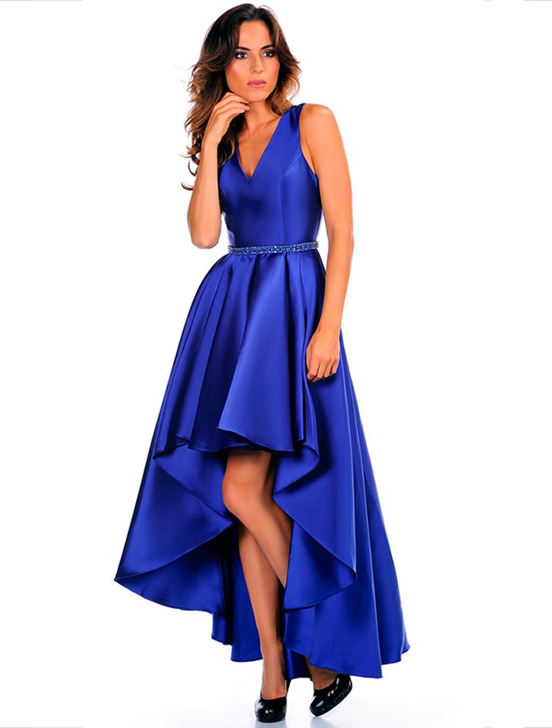 c7f71ed1138 Robe courte devant et longue derrière avec ceinture en strass - La robe  mesure 160 cm