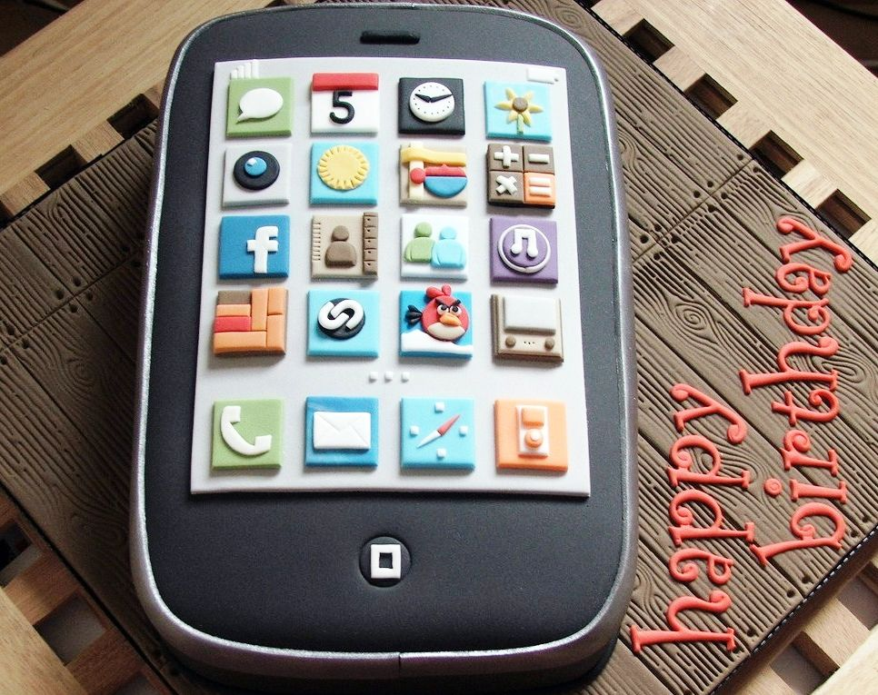 iPhone Photo Cake Gadgets Mobile Computer Pinterest Cake