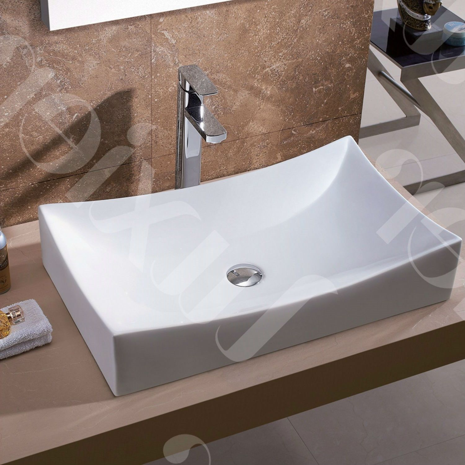 Modern European Style Oversized Porcelain Ceramic Vessel Bathroom