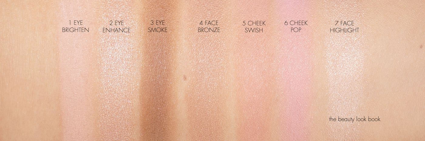 Charlotte Tilbury Instant Look Palette Swatches Face Brightening Beauty Cosmetics Color Swatch