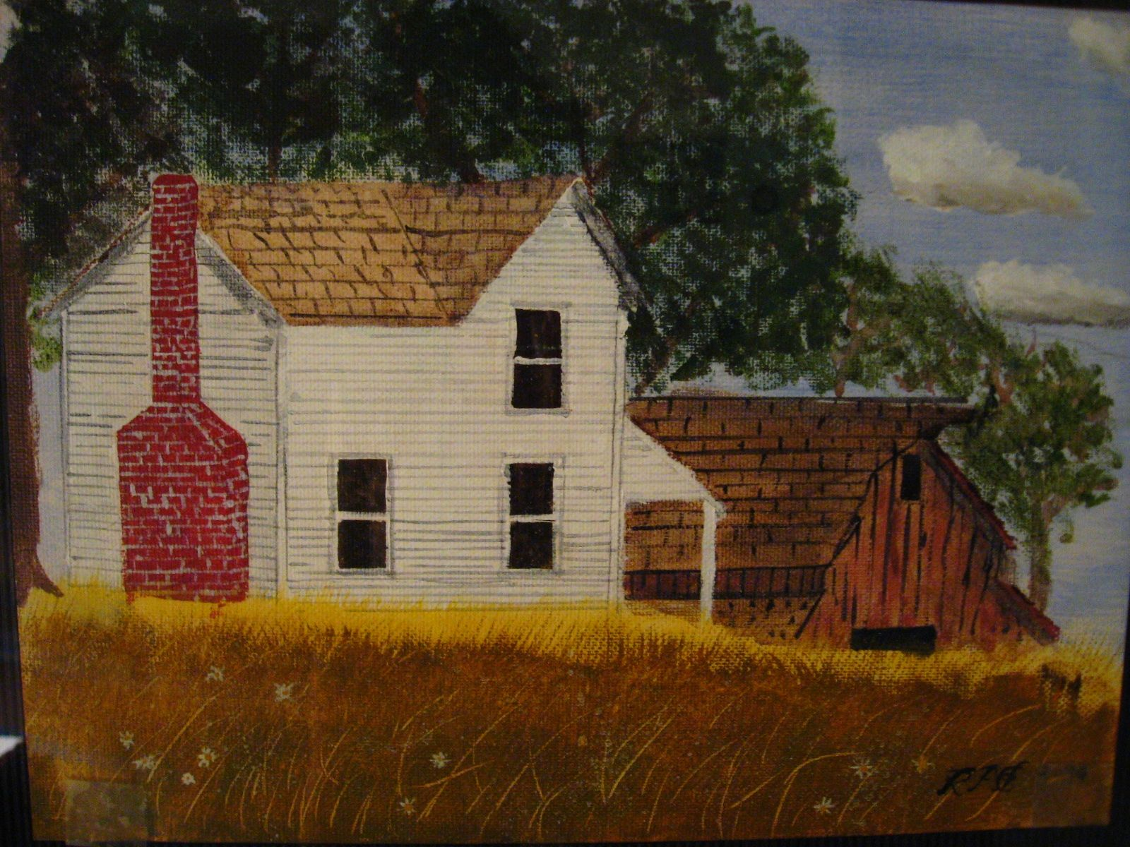 Farmhouse- painting by my Dad- Russell Elvidge