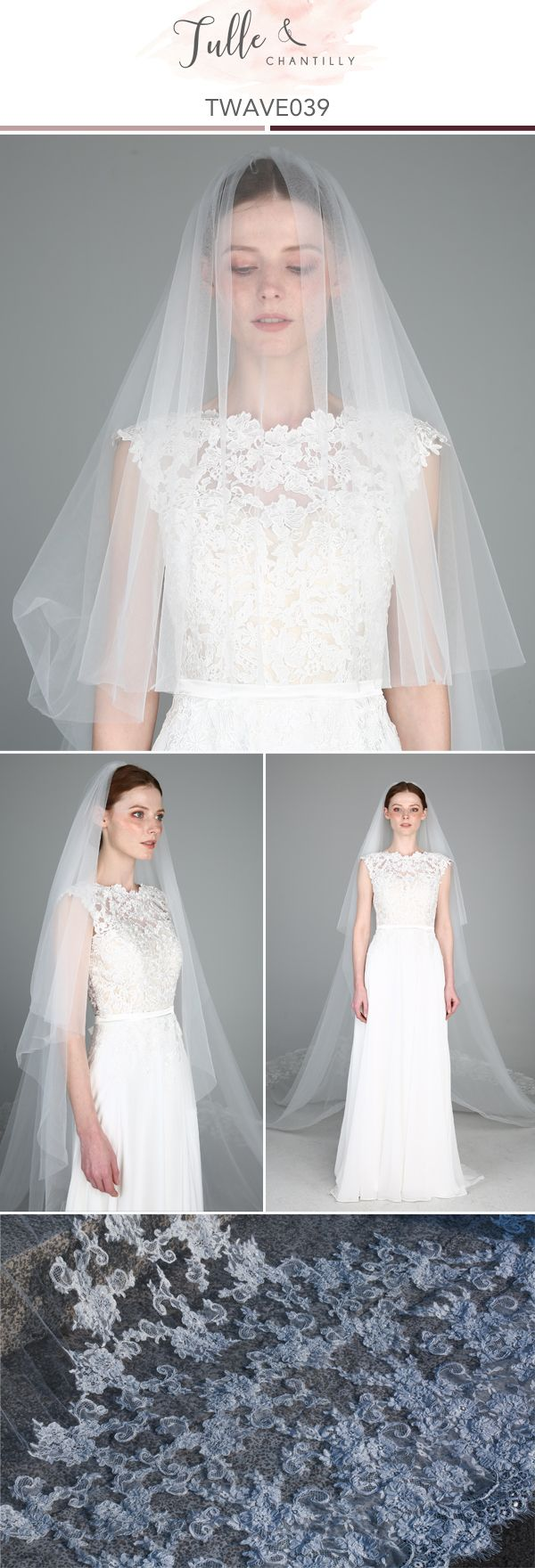 Cathedral Veil Single Tier Lace Veil Wellding bridal Veil
