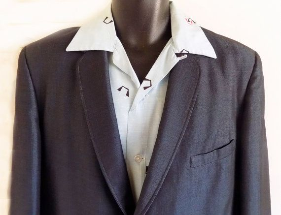 1950s Sharkskin Suit / RnR / Jive / Atomic / by fifisfinds on Etsy