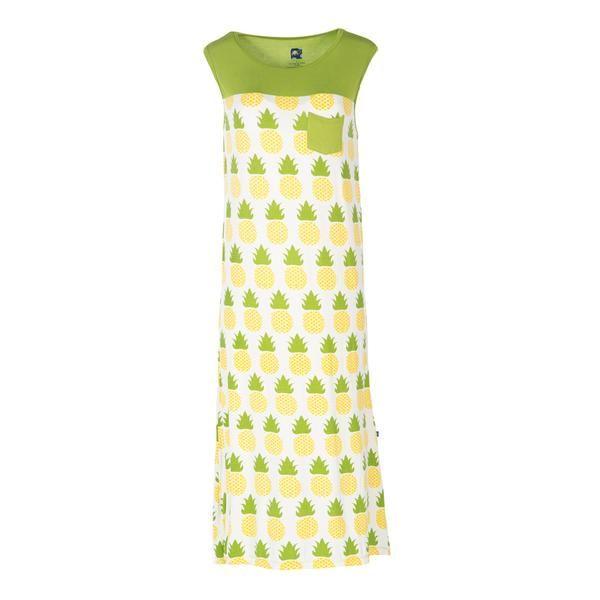 d07881e813 Kickee Pants  Adult Tank Nightgown w pocket Pineapple