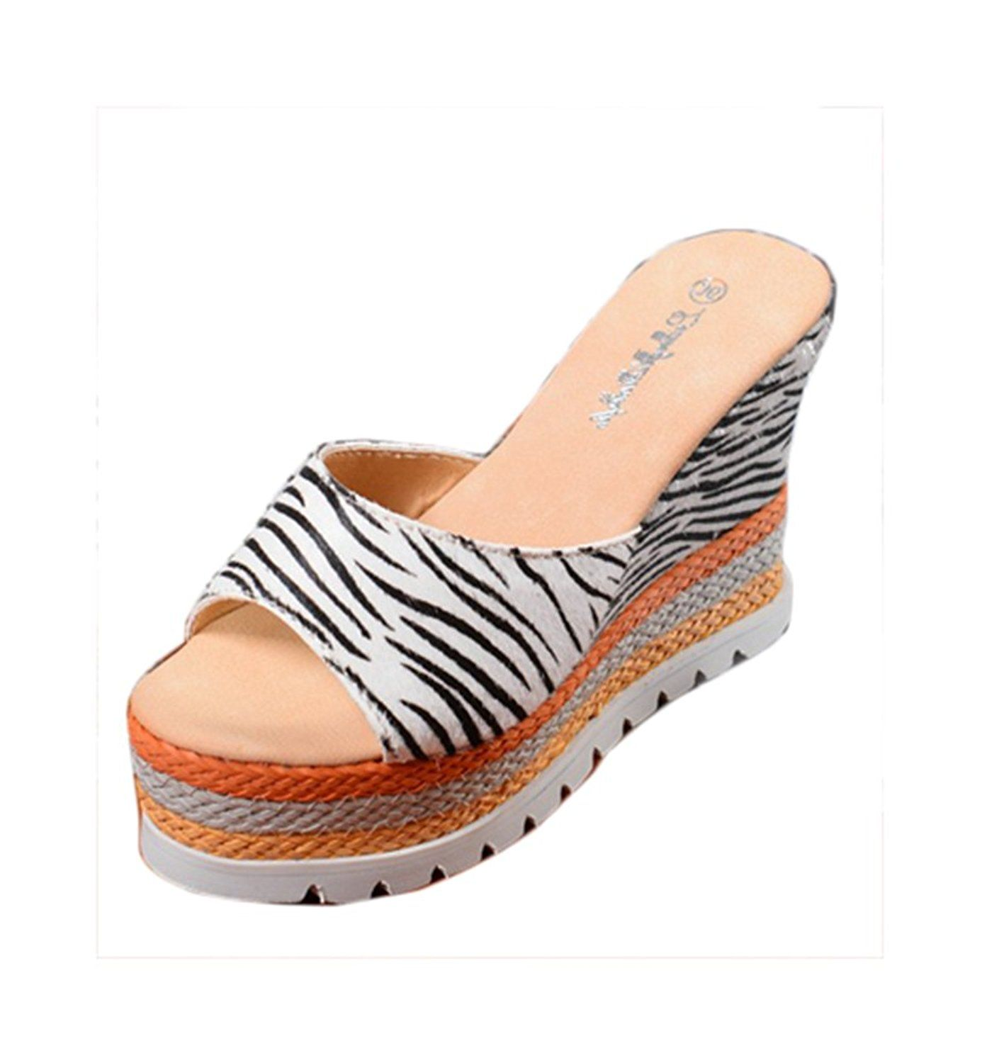 7f5034393ef712 Ubasics Women s Casual Slip on Beach Sandals    Check out this great image    Outdoor sandals