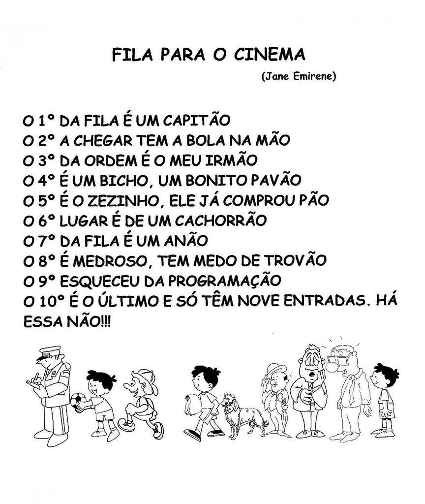 Fila Para O Cinema Numerais Ordinais Numeros Ordinais