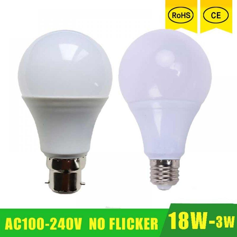 High Power E27 B22 Led Lamp Bulb Light Spotlight Led Light Bulb Lampada Led E27 Lamparas 18w 15w 12w 9w 100 240v Led Bombil Lamp Bulb Led Light Bulb Light Bulb