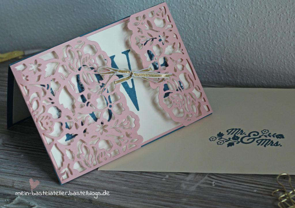 Hochzeitskarte Stampin Up LOVE große Buchstaben
