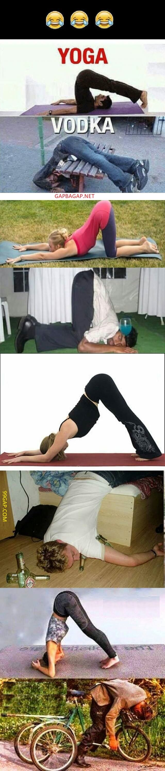 Funniest Memes About Yoga Vs Vodka Funny Pictures Marine Jokes