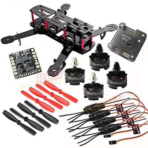 Hobbypower DIY 250mm Quadcopter Frame Kit HP T2204 2300KV Motor Simonk 12A ESC NAZE32 6DOF Flight Controller 5045 Propeller >>> Read more  at the image link. Note: It's an affiliate link to Amazon