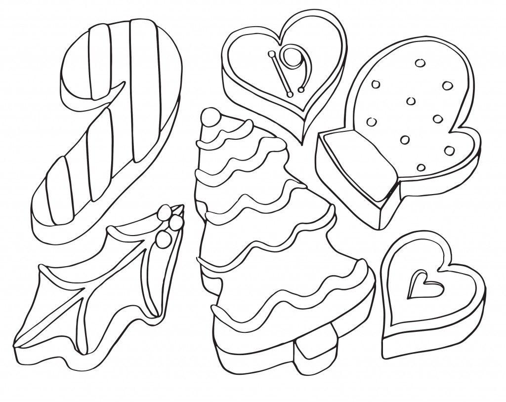 AdventCalendar_19_Cookies Coloring calendar, Coloring