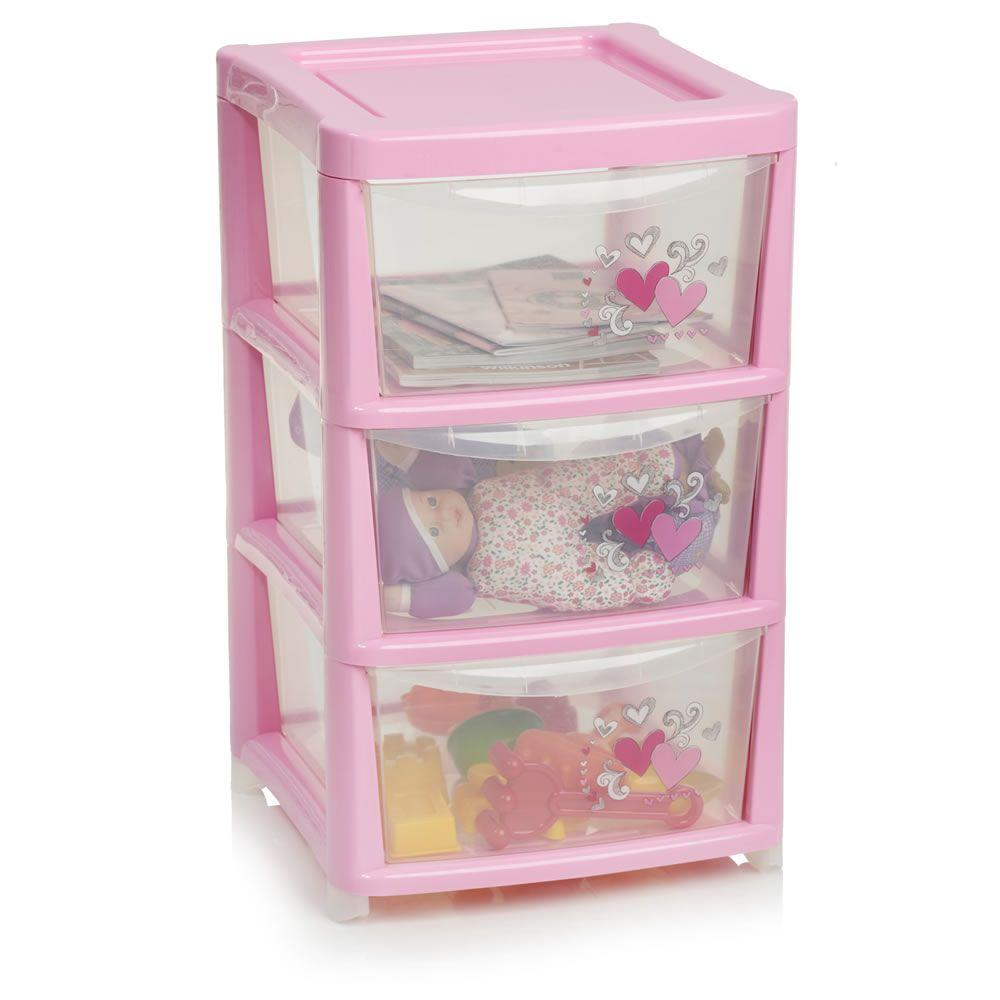 Storage Tower 3 Drawer Pink  sc 1 st  Pinterest & Storage Tower 3 Drawer Pink | New Home | Pinterest | Tower drawers ...
