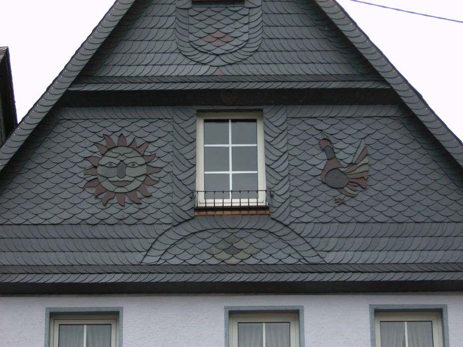 Ornamente Schiefer Dach Dachdecker Naturschiefer