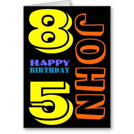 #Personalized #85th #Birthday #Greeting Card