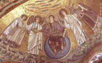 Ravenne - voûte de l'abside - la cour céleste