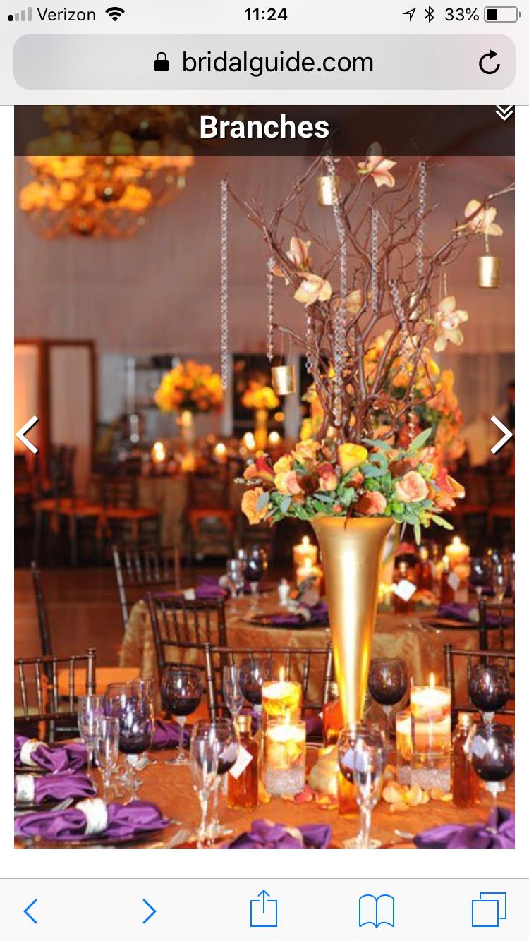 Fall wedding reception decor  Pin by CJ Selasak on November  Pinterest  November