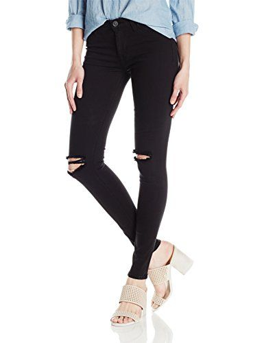 Hudson Jeans Womens Nico Midrise Ankle Destructed Super Skinny