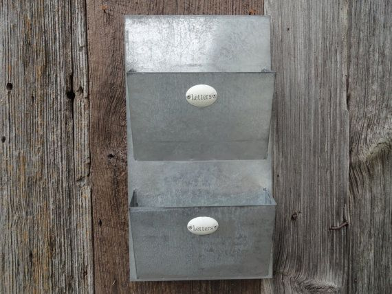 mail organizer metal mail wall holder letter holder by junkintime 2495