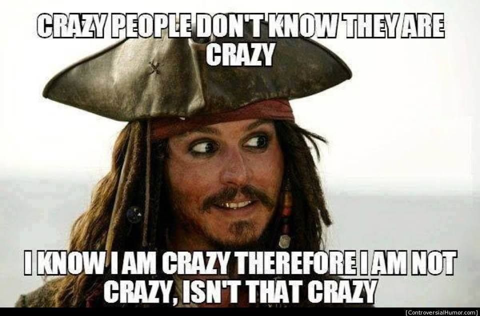 Image result for I'm not crazy jack sparrow gif