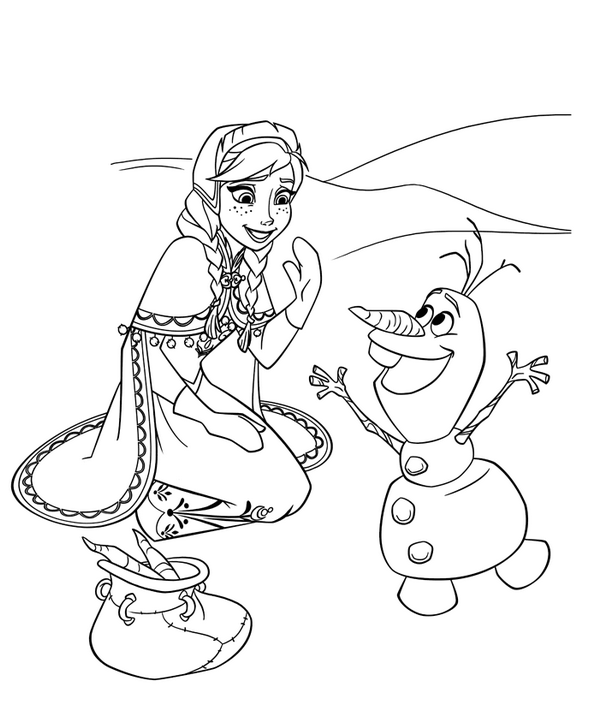 Frozen Movie Coloring Pages Frozen Olaf Coloring Page Coloring