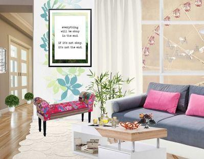 hübsches Wohnzimmer mit pinknen Accessoires ♥ Wohnzimmer