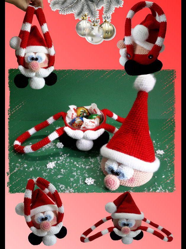 Häkelanleitung Kugeliger Weihnachtsmann, Amigurumi | Weihnachtsmann ...