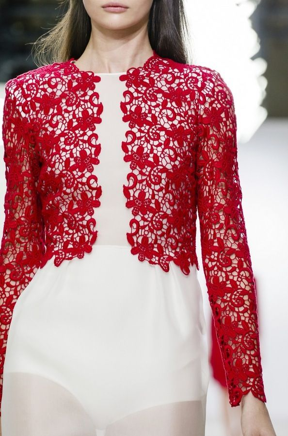 Red lace effect