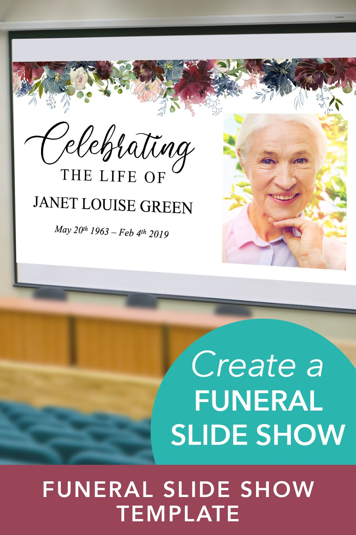 Celebration Of Life Powerpoint Template Funeral Slideshow Etsy Celebration Of Life Funeral Templates Funeral Program Template In loving memory powerpoint template