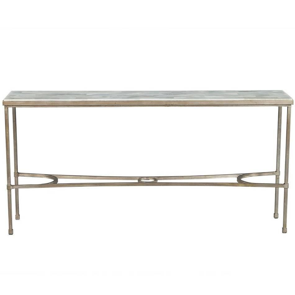 Dove White Split Face Stone Top Metal Console Table Metal Console Table Stone Top Console Table