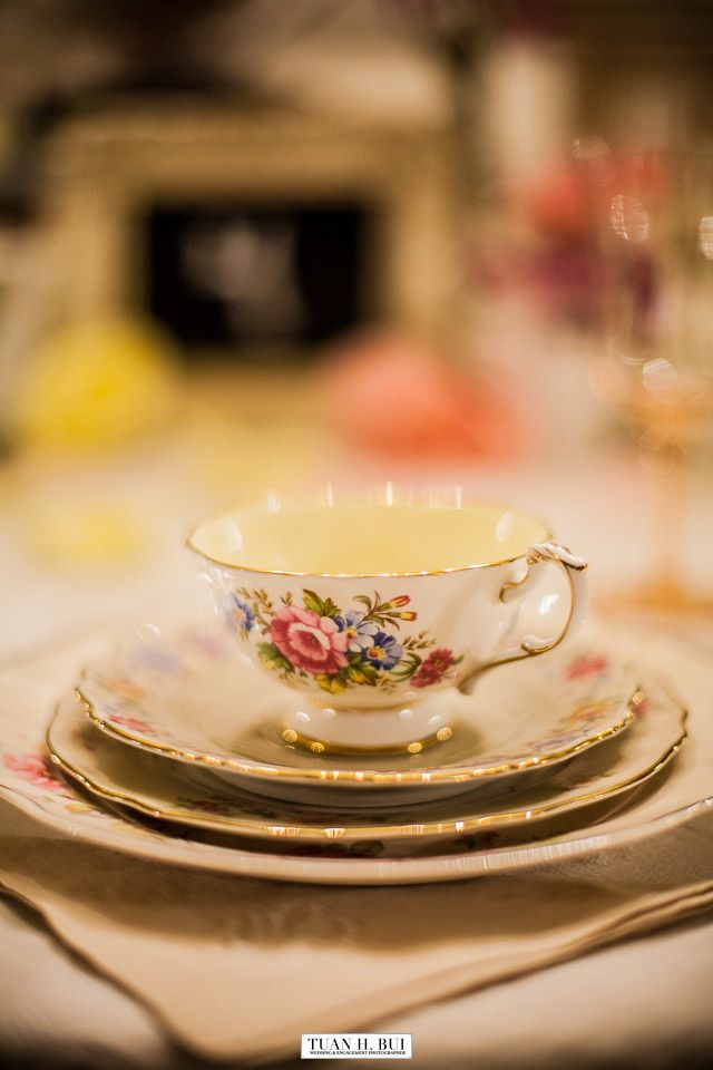 Sweet little teacup. Rentals and styling by Chicago Vintage Weddings, photography by Tuan Bui.