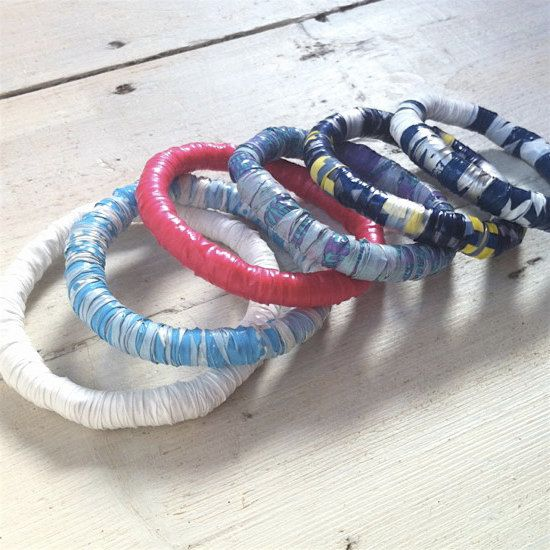Bangles Made From Plastic Bags Wred