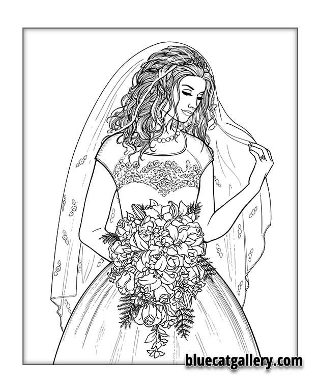Luxury Bride Coloring Book